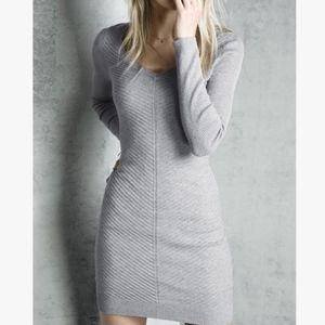 Victoria's Secret fitted gray sweater dress